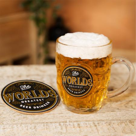 Beer tankard and coaster set