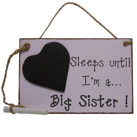 Sleeps until… I'm a big sister!