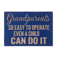 Wooden grandparents sign