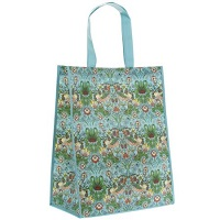 Strawberry thief teal shopper