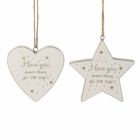I love you more than all the stars' hanging sign
