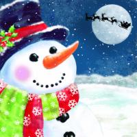 Snowman waiting - 10 cards