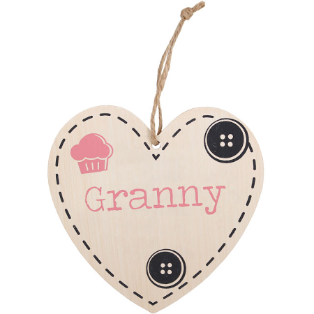 Granny' heart plaque