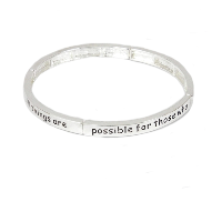 Keep your dream' slogan bracelet
