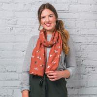 Foil honey bee orange scarf