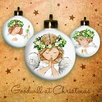 Angel baubles - 10 cards