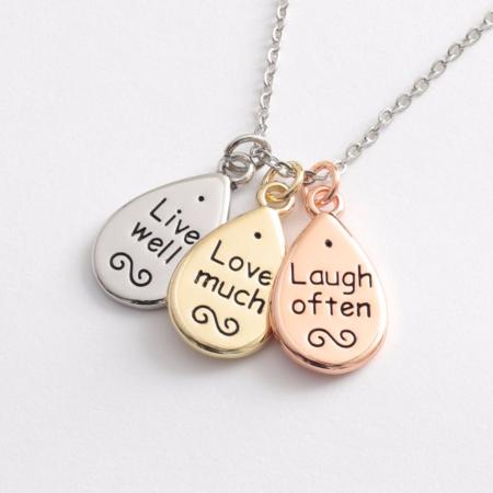 Live, love, laugh necklace