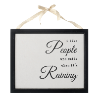 I like people who…' hanging sign