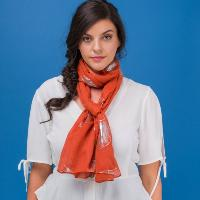 Foil genevieve orange scarf