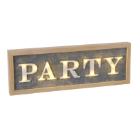 LED wooden party sign