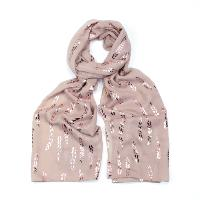 Foil wheat pink scarf