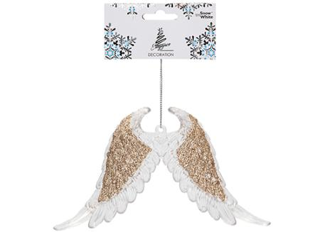 Gold glitter hanging angel wings
