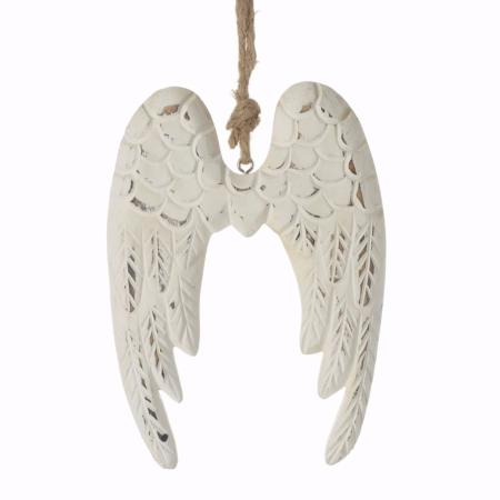 White hanging angel wings