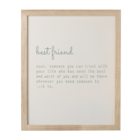 Best friend quote frame