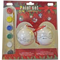 Paint your own Christmas baubles