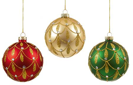 Glitter hanging bauble