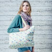 Elena pale green overnight bag
