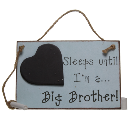 Sleeps until… I'm a big brother!