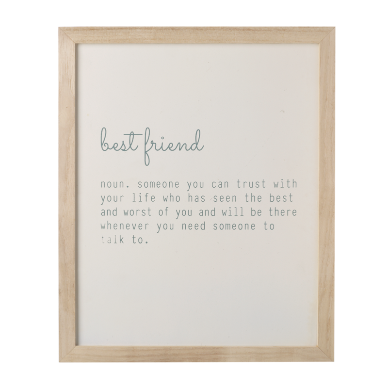 Friendship Picture Frames With Quotes: Best Friend Quote Frame