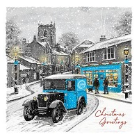 Roy Castle snowy high street - 10 cards