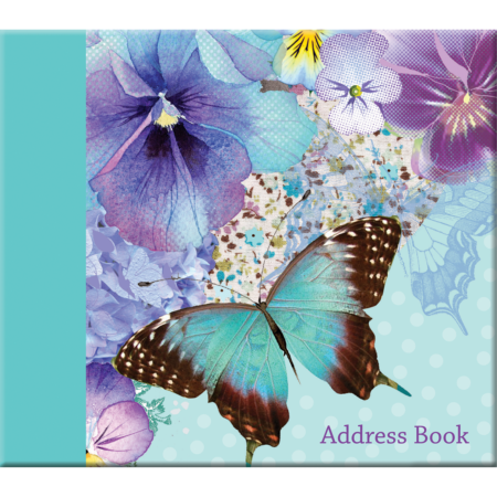 Polka Dot Viola address book