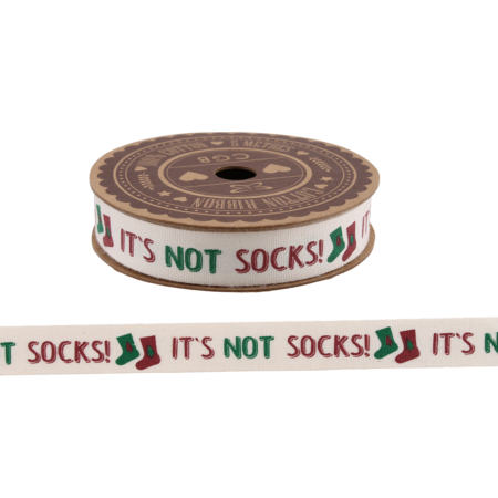 It's not socks!' gift ribbon