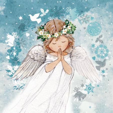 Angel in garland - 10 cards