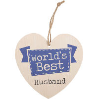 Worlds best husband' heart plaque