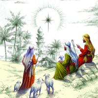The shepherds watch from afar - 10 cards