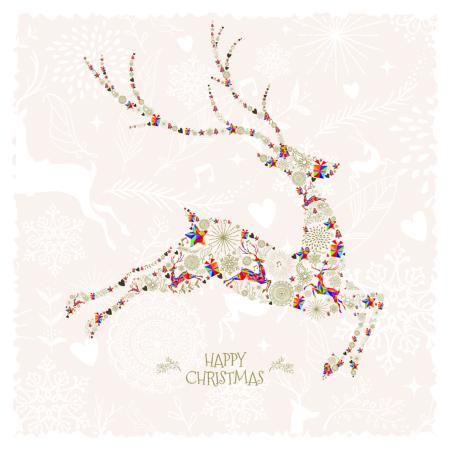 Colourful stag - 10 cards