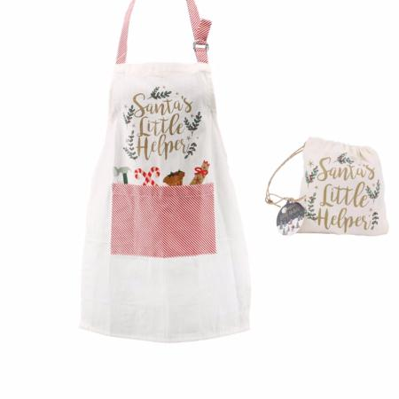 Santas little helper childrens apron
