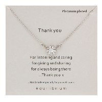 Thank you necklace
