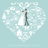 Congratulations wedding card
