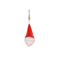 Mini metal hanging Santa