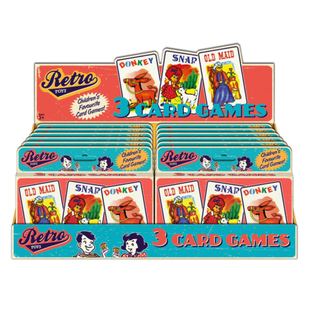 Retro playing cards 3 pack