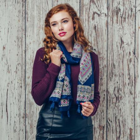 Morna blue scarf