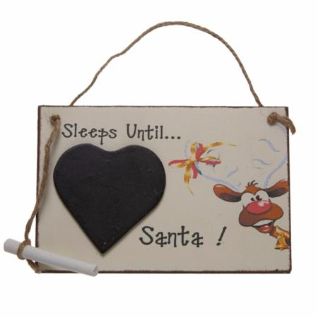 Sleeps until Santa chalkboard