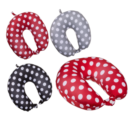 Polka dot neck cushion